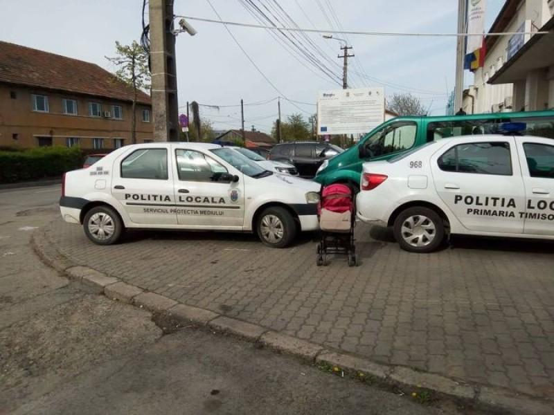 Se întâmplă în România: 900 de lei amendă pentru că a pus pe Facebook poza cu maşinile Poliției parcate ilegal!