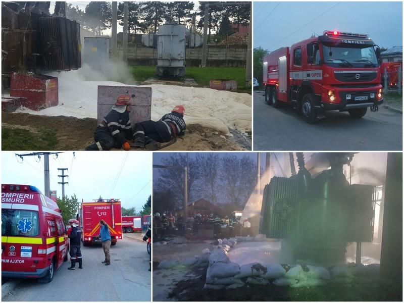 Se menține starea de alertă în Zona Industrială! Pompierii intervin de mai bine de opt ore! FOTO, VIDEO