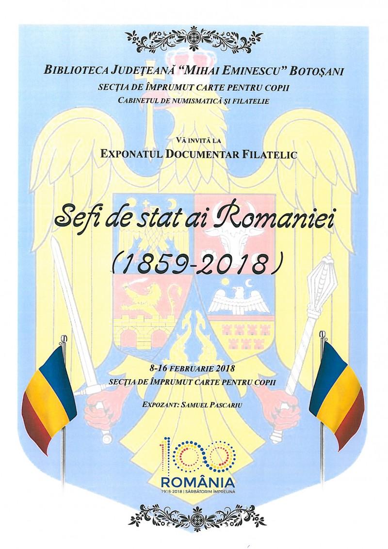 Șefi de stat ai României, la Biblioteca Județeană