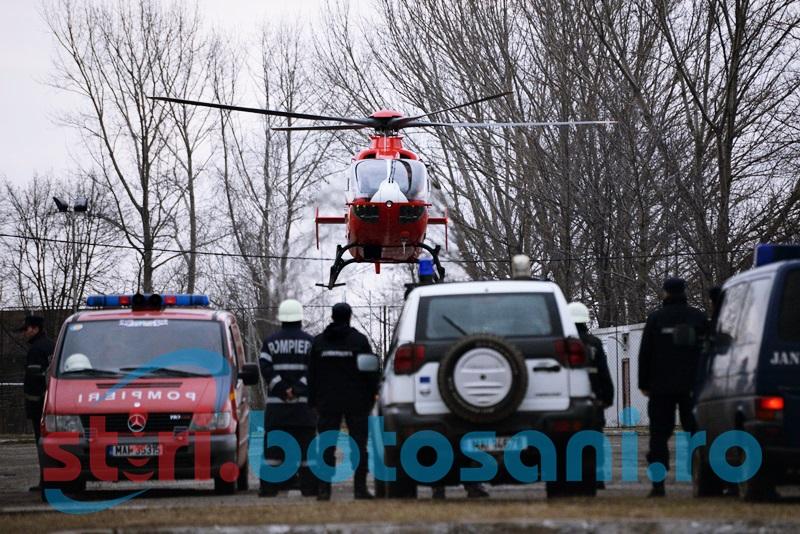 Șeful UPU-SMURD Botoșani propune înființarea a două heliporturi în județ