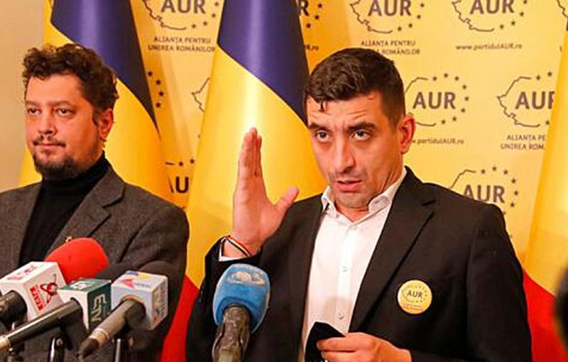 Senatorul AUR Claudiu Târziu și deputatul George Simion ajung la Botoșani