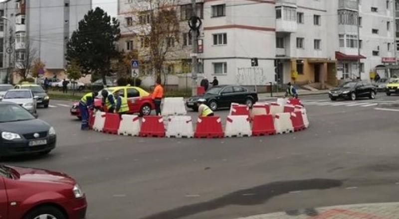Sens giratoriu definitiv pe Bulevardul George Enescu