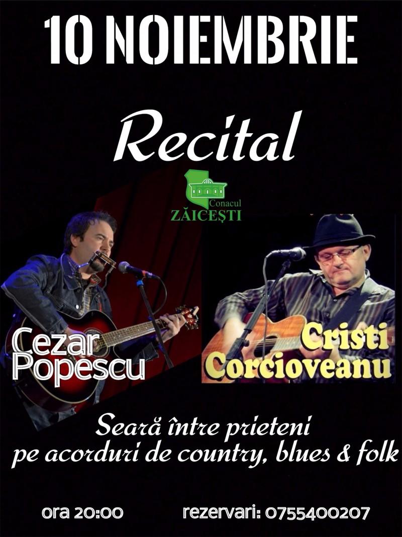 Seri de vineri la conac: Cezar Popescu & Cristi Corcioveanu - LIVE