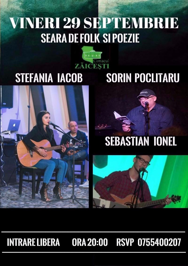 Seri de vineri la Conac: Noapte de folk şi poezie cu Ştefania Iacob & Sorin Poclitaru