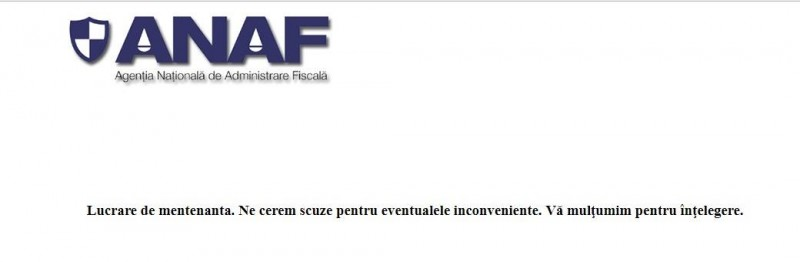 Serverele ANAF sunt nefuncționale!