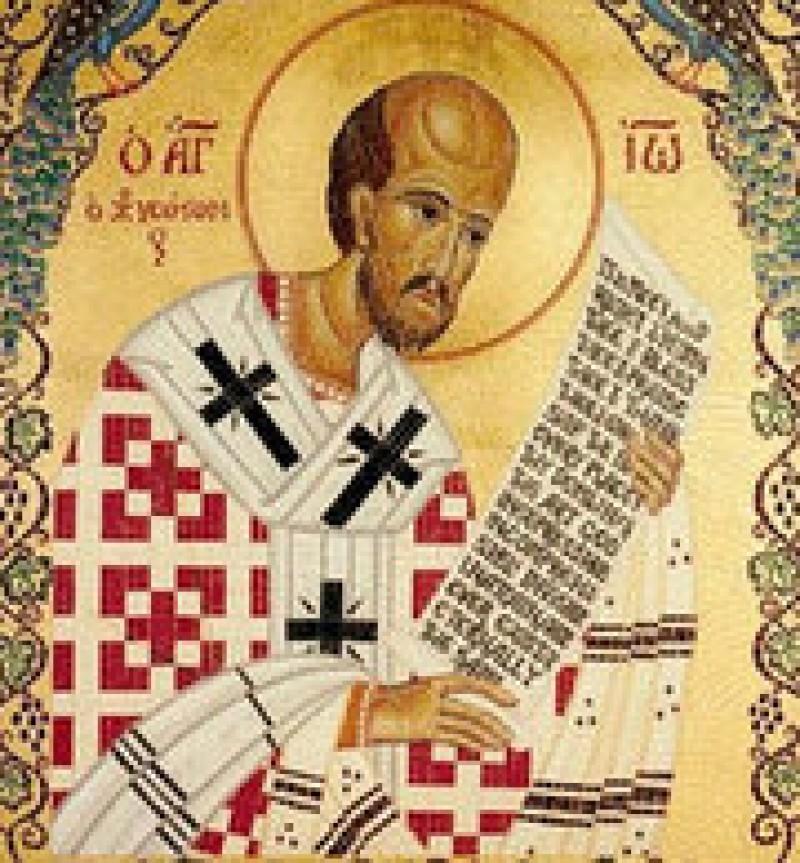 Sfantul Ioan Gura de Aur - (Lasatul secului pentru Postul Craciunului)