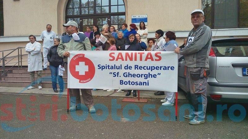 """Și angajații de la Spitalul de Recuperare au intrat în grevă generală! """"Suntem mobilizați!"""" FOTO"""