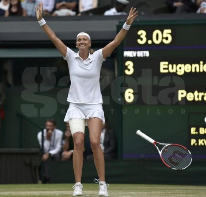 Simona Halep a avut dreptate! Eugenie Bouchard, umilită în finala de la Wimbledon de Petra Kvitova