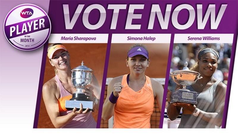 Simona Halep a fost inclusă între cele mai bune jucătoare ale lunii! Voteaz-o aici!