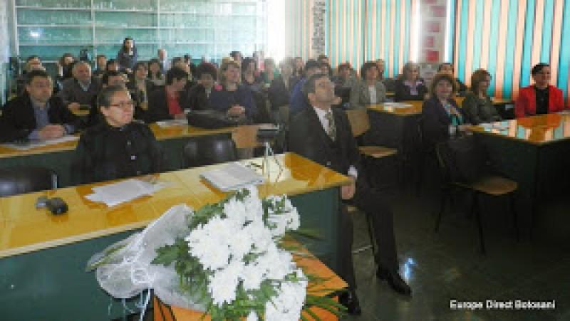 """Simpozion interjudețean la Școala nr. 11 Botoșani:""""Şcoala - furnizor de educaţie pentru cetăţenie democratică"""""""