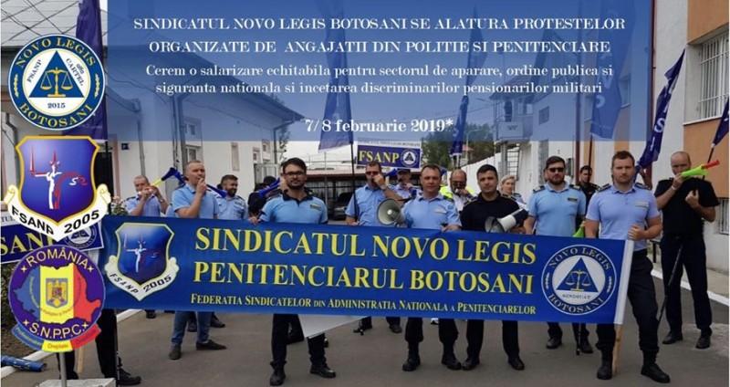 Sindicatul Novo Legis, din Penitenciarul Botoșani, participă la protestele organizate pe 7-8 februarie în București!