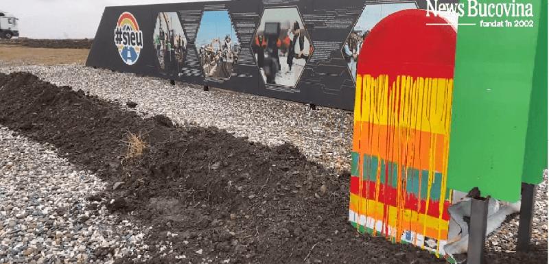 Singurul metru de autostradă din Moldova a fost acoperit cu pământ