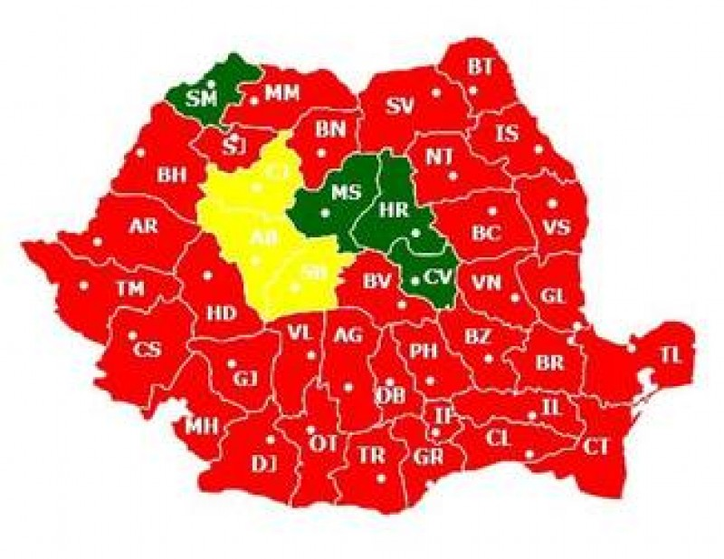 Situatie dramatica pentru PNL: A obtinut cele mai multe voturi doar in 3 judete, PSD in 35!