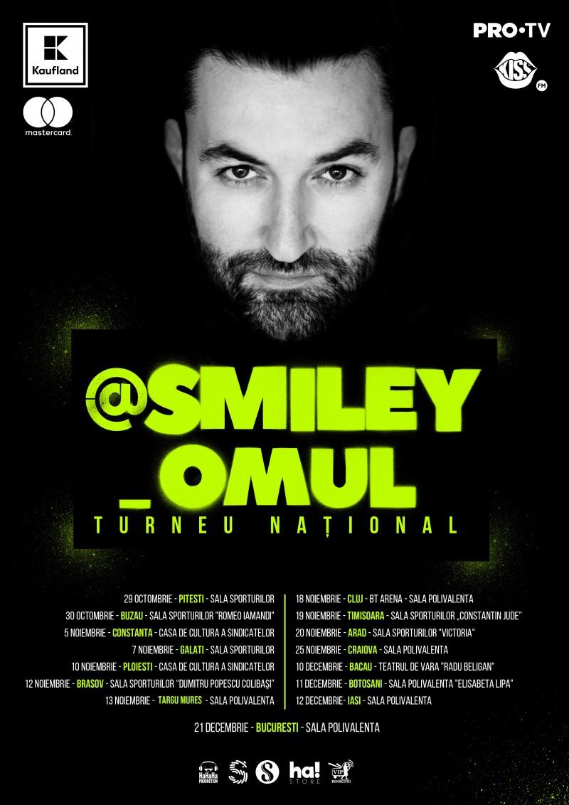 Smiley anunță @Smiley_Omul, cel mai mare turneu național susținut de un artist român