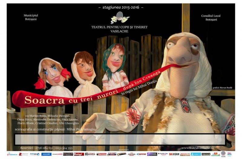 """""""Soacra cu trei nurori"""", pe scena Teatrului """"Vasilache"""""""
