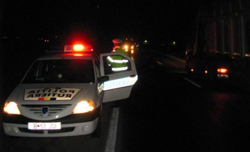 Șofer-pericol depistat în toiul nopții pe un drum din județul Botoșani!