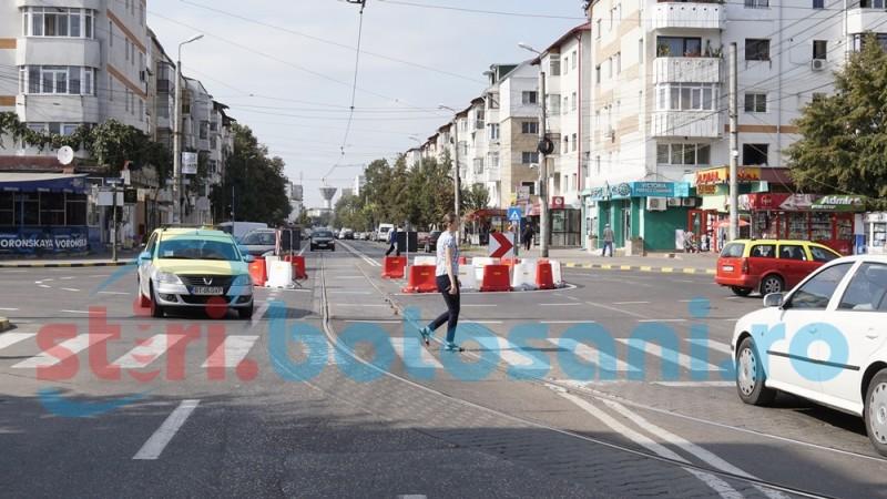 Șoferii semnalează probleme la noul sens giratoriu din municipiul Botoșani - FOTO