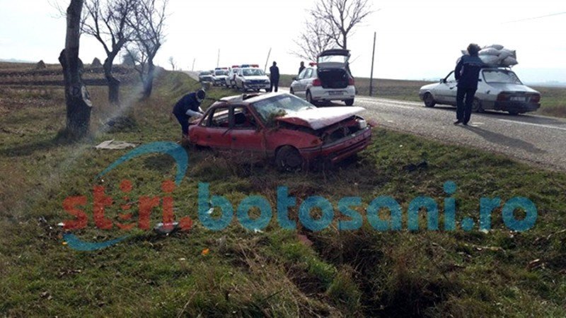 Șoferul care s-a răsturnat cu mașina, după o spargere la un magazin, a fost reținut!
