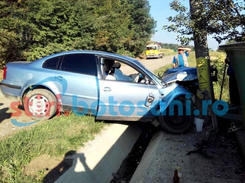 Șoferul rănit în accidentul de la Schit-Orășeni, trimis la Iași!
