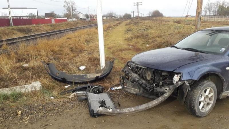 Spaimă teribilă pentru un șofer din Botoșani! FOTO