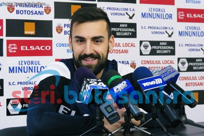 """Spaniolul Jose Casado, impresionat de FC Botosani. Mesaj pentru fani: """"Voi da tot ce am mai bun pentru echipa"""" - VIDEO"""