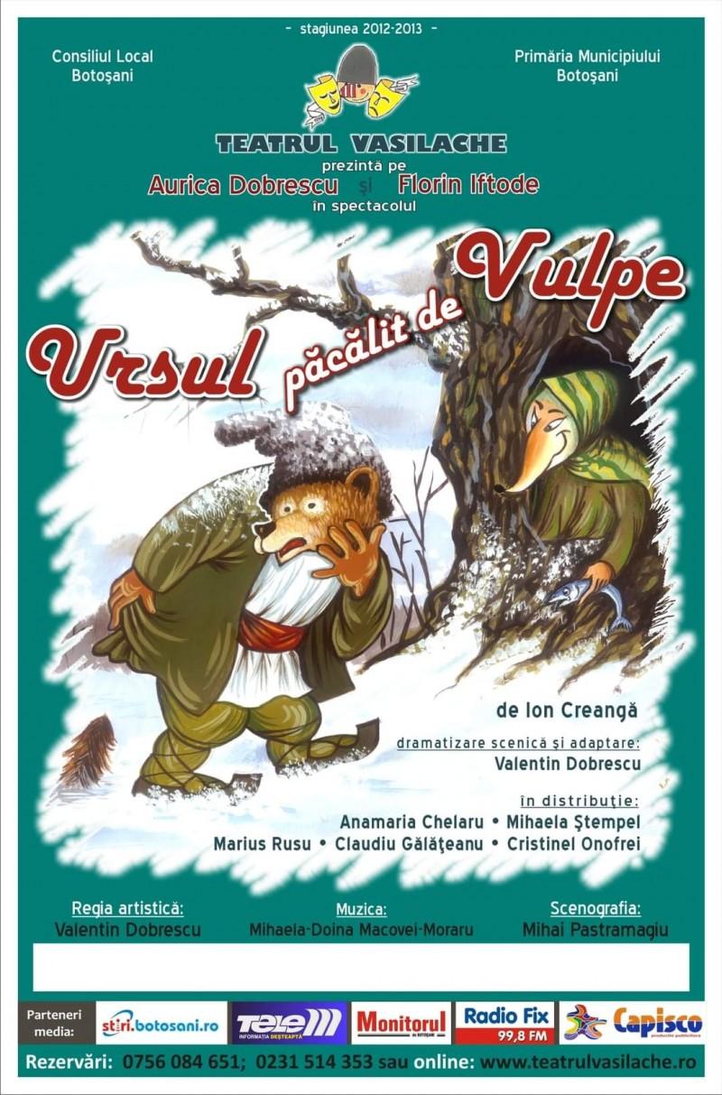 """Spectacol online pus la dispoziția publicului de Teatrul """"Vasilache"""""""