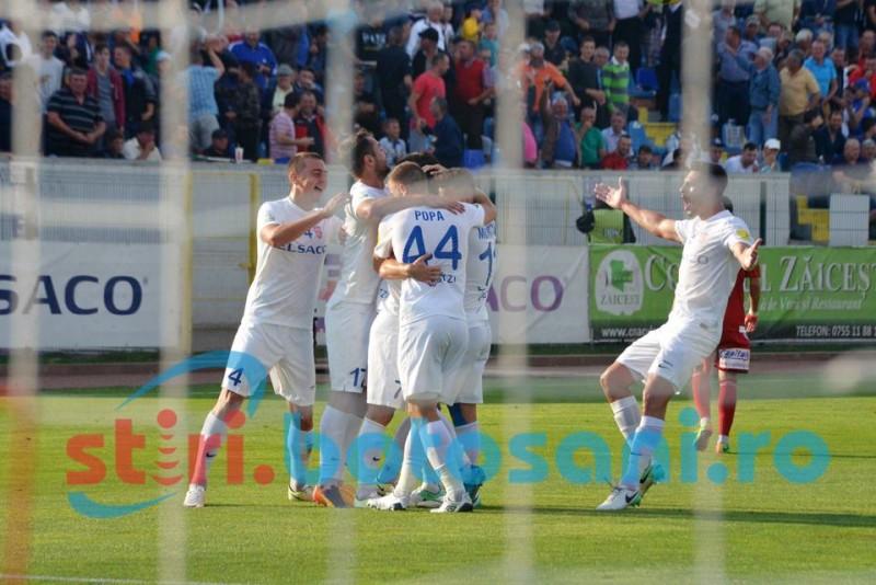 SPECTACOL pe Municipal! FC Botosani urca pe primul loc in Liga 1, dupa o victorie categorica in fata lui Sepsi - GALERIE FOTO