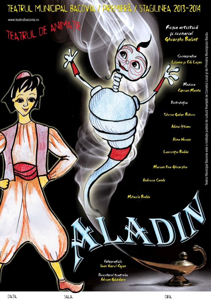 """Spectacolul """"Aladin"""", pe scena Teatrului """"Vasilache"""" Botoșani!"""