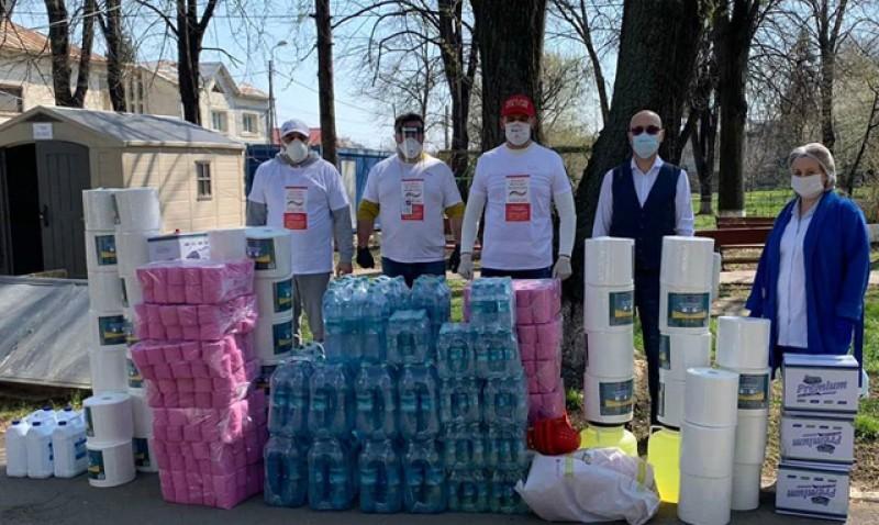 Spitalului de Pneumoftiziologie Botoșani a primit 80 de litri de dezinfectant concentrat de la Asociația Internațională a Polițiștilor