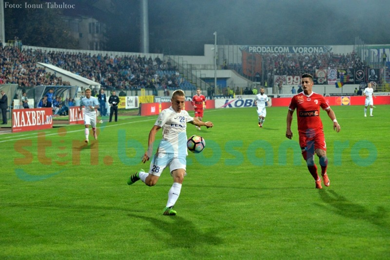 Statistica e de partea Botoșaniului! Dinamo a câștigat un singur meci în ultimele cinci întalniri!