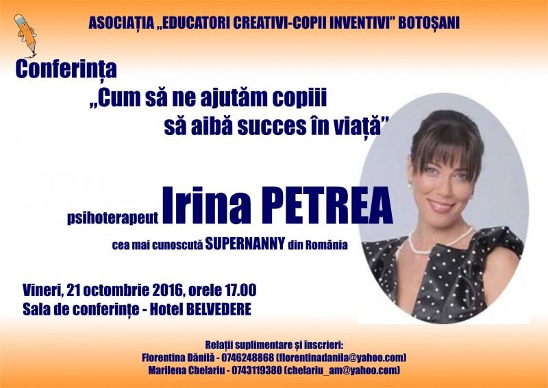 """Supernanny, din nou la Botoşani, la invitaţia Asociaţiei """"Educatori creativi- copii inventivi""""!"""