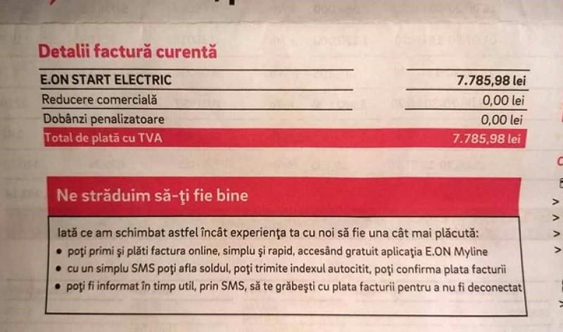 Surpriza de la E.On: O femeie din Botoșani a primit o factură uriașă pentru utilități