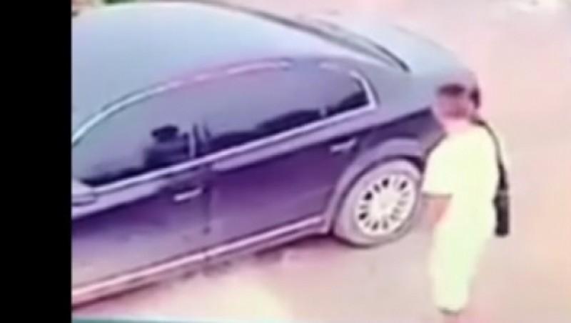 Surpriză maximă pentru un hoț de mașini! VIDEO