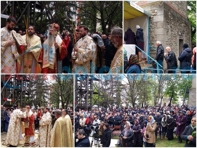 Sute de credincioşi îl cinstesc pe ocrotitorul municipiului Botoşani. Înalt Preasfinţitul Teofan oficiază Sfânta Liturghie la Biserica Sfântul Gheorghe - FOTO, VIDEO