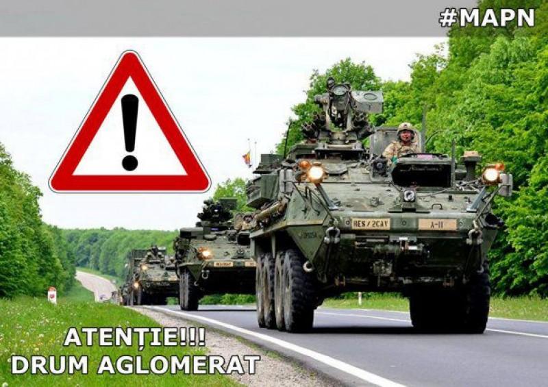 Sute de militari din 11 state NATO, vehicule de luptă și transportoare de trupe intră în România!
