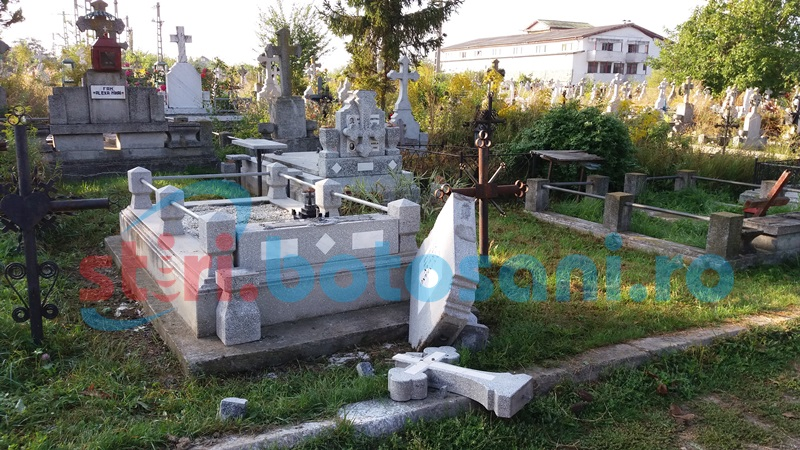 Tânăr reţinut în cazul distrugerilor din Cimitirul Eternitatea!
