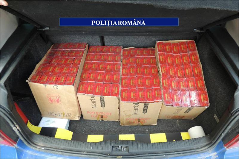 Tânără din Botoșani cercetată pentru contrabandă. Avea în portbagaj peste 2.500 de pachete de țigări duty-free