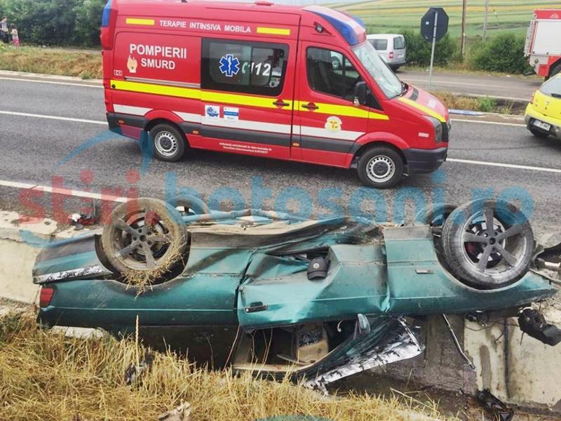 Tânărul care s-a răsturnat cu mașina la Brehuiești, suspectat că a consumat substanțe interzise!