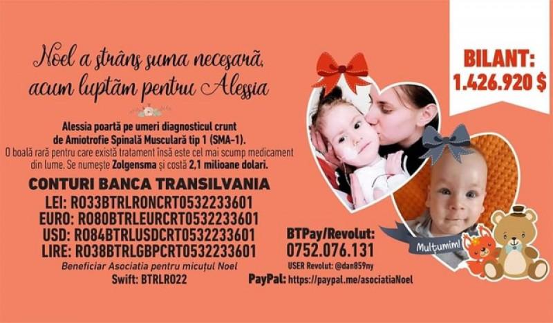 Târg caritabil organizat la Botoșani pentru o fetiță grav bolnavă