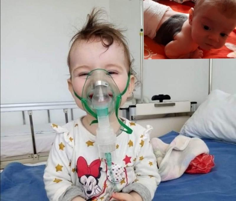 Târg caritabil pentru Anastasia, fetița diagnosticată cu nev congenital gigant