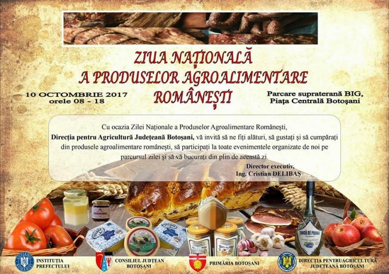 Târg cu produse agroalimentare româneşti, la Botoşani