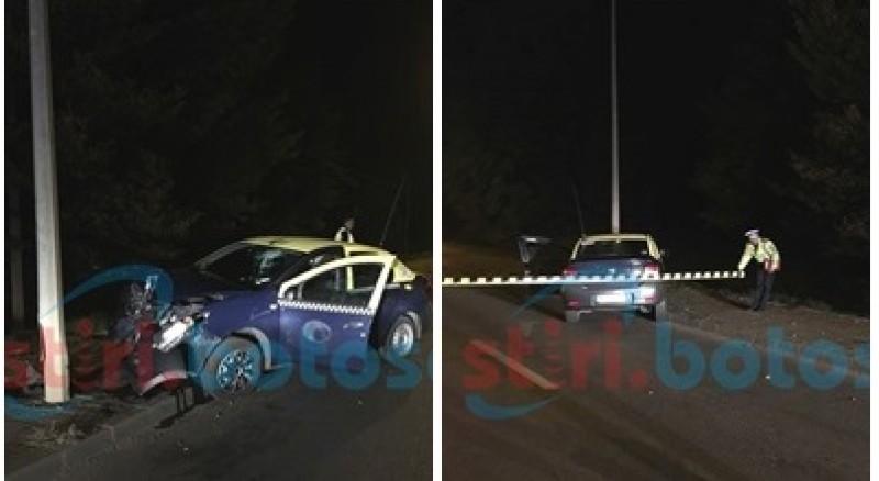 Taximetrist căutat de poliţie! A fugit după ce a produs un accident la ieşirea spre Suceava! FOTO