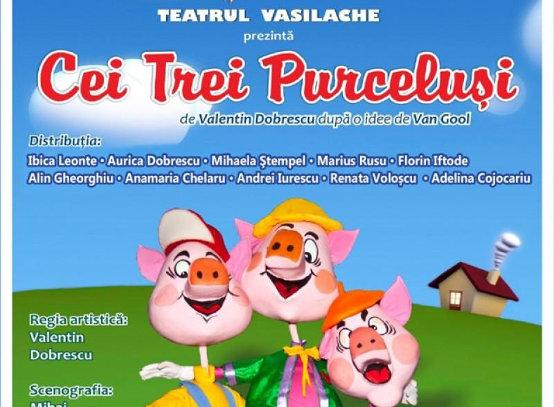 """Teatrul pentru Copii și Tineret """"Vasilache"""" invită în această săptămână publicul botoșănean la vizionarea a două spectacole"""