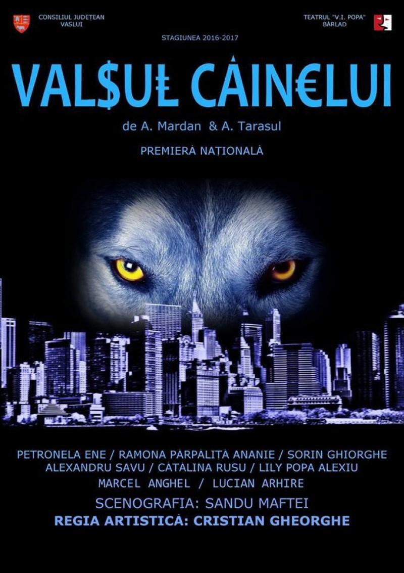 """ASTĂZI: Teatrul """"Victor Ion Popa"""" Bârlad aduce la Botoșani """"Valsul câinelui"""" - FOTO"""