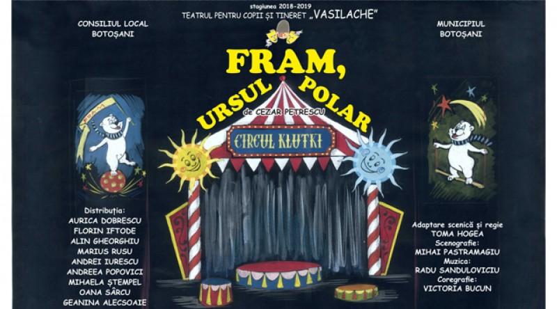 """Teatrul """"Vasilache"""" vă invită la """"Fram, ursul polar""""! Oamenii cu suflet mare pot cumpăra """"Bilete în aşteptare"""" pentru copii nevoiași!"""