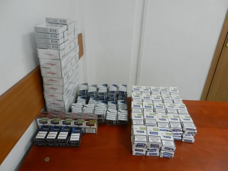 Prinsă cu țigări de contrabandă în Piața Centrală