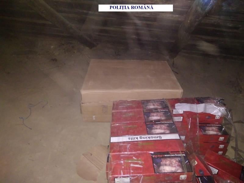 Țigări de contrabandă confiscate de polițiști, în urma perchezițiilor efectuate în Truşeşti şi Albeşti! FOTO