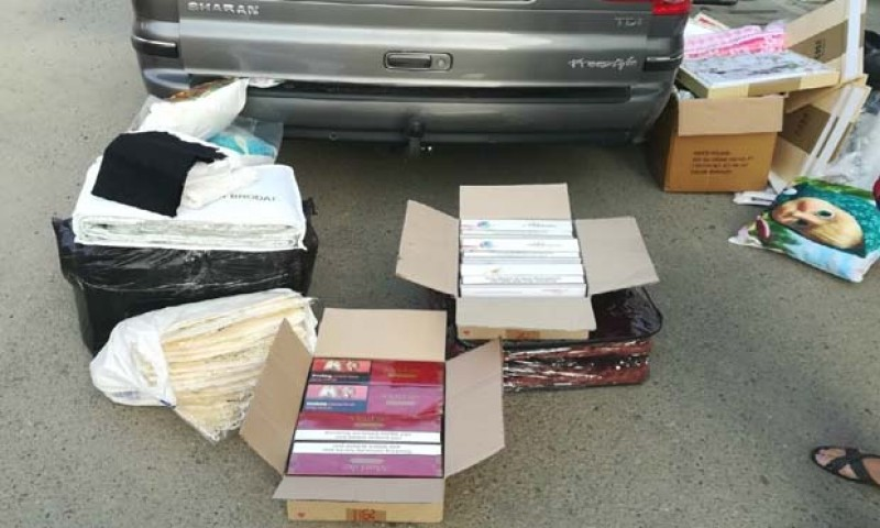 Ţigări de contrabandă, confiscate de poliţiştii frontieră de la Dorohoi
