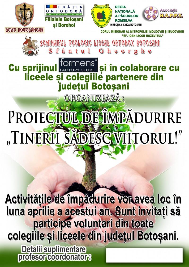 """""""Tinerii sădesc viitorul"""", proiectul care vizează împădurirea cu peste 4000 de puieți a versantului Pacea"""