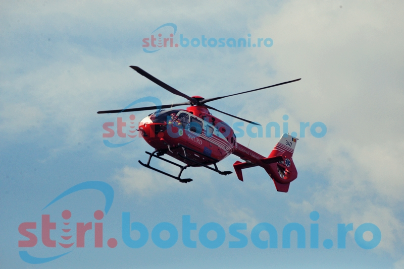 Transferat la Iași cu elicopterul SMURD; Pacientul suferise un infarct!